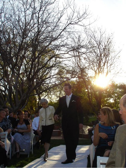 Heading down the aisle!  Handsome!