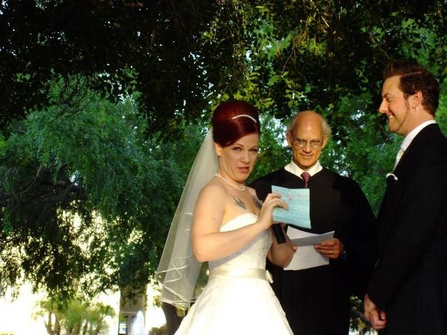 Giggling crying blushing bride!