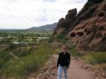 Pelvis begins her hike