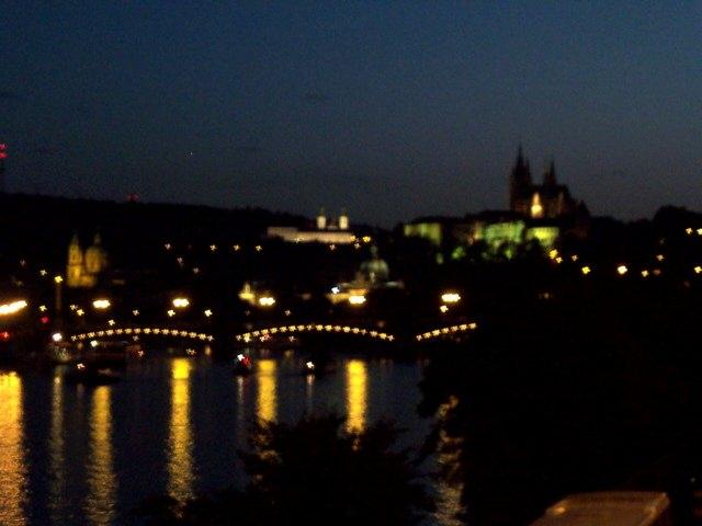 Really Blurry Prague at Night
