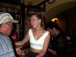 Shauna Making Friends at the Absinthe Bar