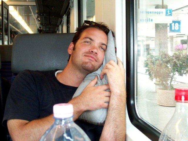 Fikul Was Happy When We Got Seats in the Train
