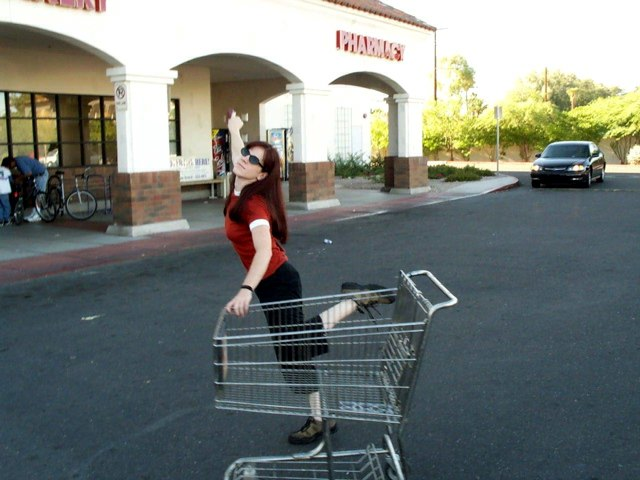 """I Love This Parking Lot!  And This Cart, Too!"""