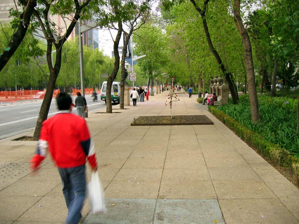Walking down Paseo de la Reforma.  It's a pretty street.