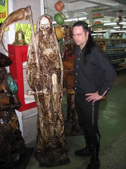 The life-size paper mache grim reaper is pretty fucking cool.