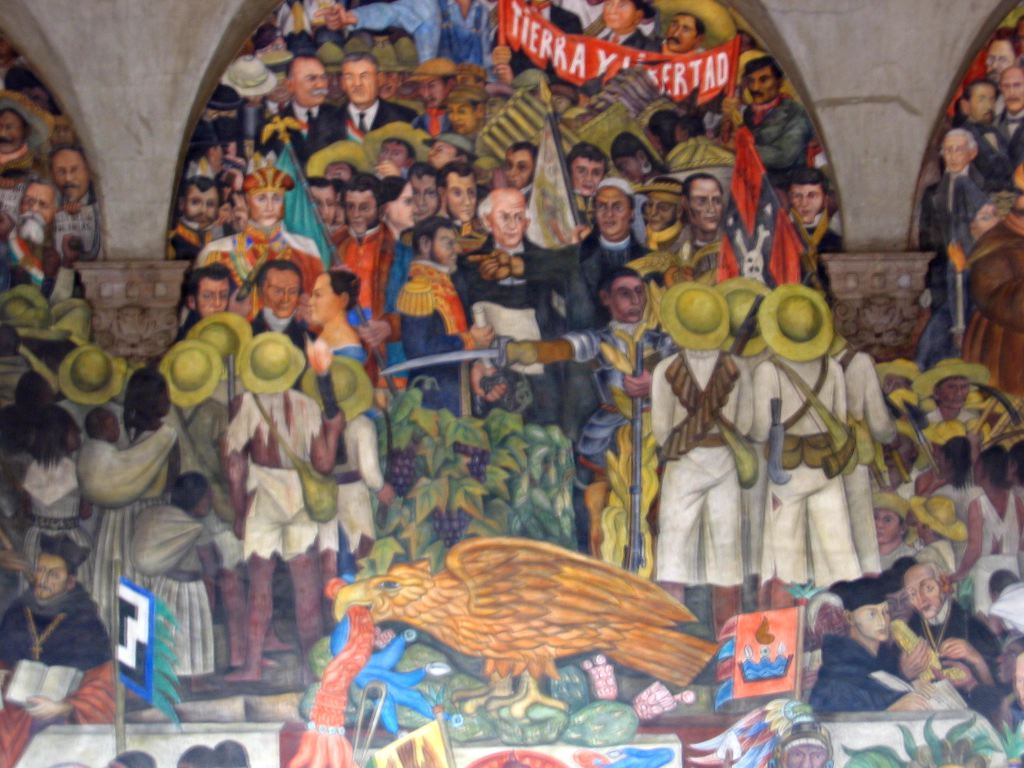 One of the Rivera murals in Vicente's pad.  Very cool stuff.  Wish it weren't blurry.