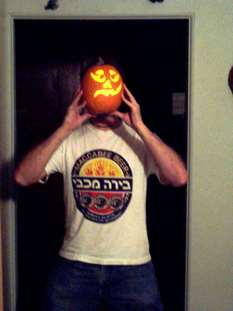 Oh God!  An Israeli Shirt-Wearing Pump-Kin Head!