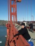 Felon Corrie, fleeing San Francisco on her trusty bike