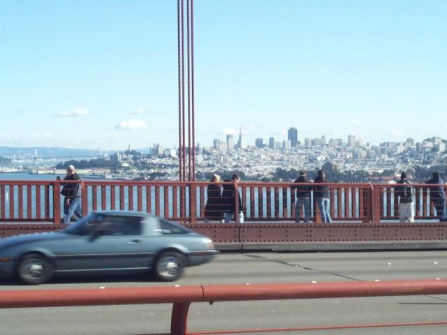 Peeps on the Golden Gate Bridge